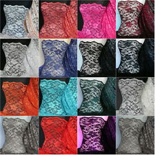 Scalloped 2 way stretch lace with lycra fabric material Q615