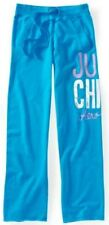Blue Aeropostale Just Chill Boyfriend Womens Loose Fit Fleece Sweat Pants L XL