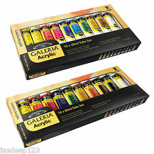 Winsor & Newton Galeria Acrylic Paint Tubes Set for Artist paint set