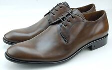 John Varvatos Richards Mens Dark Brown Leather Tuxedo Oxford Shoes Made in Italy