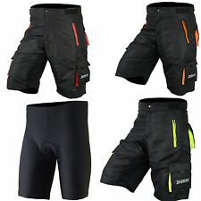 Mens Cycling MTB Shorts Bike Cycle Liner Shorts Padded