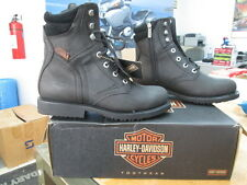 NEW Harley Davidson Mens Leather Boots Shoes Medium Black Darnel