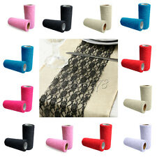 """2x 6""""x10YD Lace Roll Runner Chair Ballon Ties Wedding Party Table Fabric Decor"""