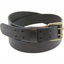 Made in USA 1 1/2 Dark Brown Bridle Leather Belt With Double Hole