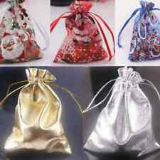 25/50Pcs Santa Claus Snow Drawstring Organza Gift Bags Wedding Bags Favour12x9cm