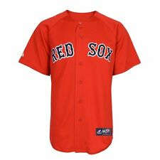 NWT Majestic Boston Red Sox Team Replica Red Applique Jersey: Little Kids 4-7