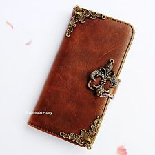 Fleur de Lis phone wallet Leather flip case Handmade cover For Google Nexus 5 6