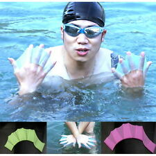 Hot Swim Gear Fins Hand Webbed Flippers Silicone Training Paddle Dive Glove