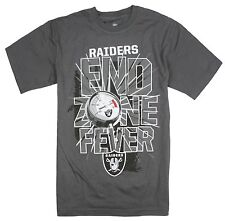 NFL Football Youth Oakland Raiders Short Sleeve End Zone Fever T-Shirt, Grey