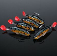 New Soft Plastic Lures Fishing Lure Bait With 1 Hook Tackle 1/3/5Pcs 25g/10cm