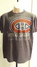 NWT Majestic Youth Montreal Canadiens Short Sleeve Team Logo Gray T: Sizes S-XL