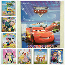 Disney Frozen Mickey Barbie Pooh Cars Sticker Coloring Book Kid Educational Game