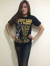 Johnny Cash A TRIBUTE Music Women's Retro T-Shirt Black Graphic Tee Bunny