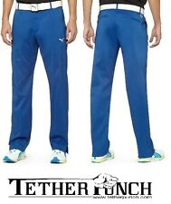 Puma 565524-05 Dry Cell Flat Front Golf Tech Pant Blue $80 Fowler NEW W/ TAGS