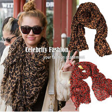 ac27(R) Celebrity Style Timeless Ladies Oversized Leopard Scarf Animal Print