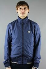 Duck & Cover DAC1F0005 Mens Harrington Jacket Deep Navy Blue BEAGLE