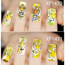 1Sheet Tiger Full Nail Art Water Decals Transfers Sticker