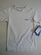 BOYS YOUTHS REEBOK PLAYDRY COMPRESSION SHIRT SHORT SLEEVE WHITE RRP £21.99
