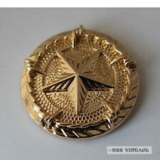 【Star Concho】1-1/4' Western Texas Star Saddle Conchos with Barb Wire Gold