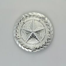 1-1/4' Western Texas Star Saddle Conchos with Barb Wire Sterling-Silver