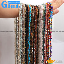 "Multi-color Chips Gemstone Loose Beads Strand 34"" 7-8mm Free Shipping"