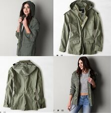 NEW American Eagle Outfitters Women's Hooded Surplus Jacket Olive - S, M, L, XL