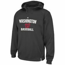 Majestic Washington Nationals Gray All In Effort Therma Base Hoodie