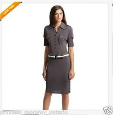 NWT GUESS by MARCIANO Fay Shirtdress Dress Shirt  Belt Wear to Work  Size XS