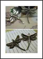 3/10pcs 55x50mm Antique Silver Lovely Filigree Thick dragonfly Charms Pendant