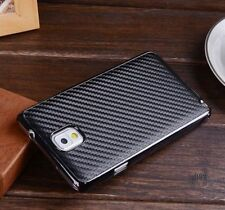 For Samsung Galaxy Note III 3 N9000 Carbon Fiber Leather Hard Back Cover Case