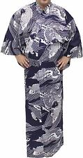 Japanese Kimono Men's Casual Cotton Yukata Robe Carp #863 Samurai Gown Novelty
