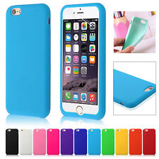 Silicone Rubber Gel Case Cover Skin For iPhone 6 4.7'' Free Screen Protector