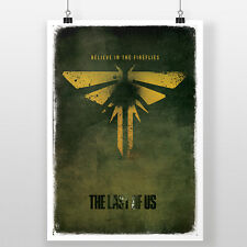 The Last Of Us - Believe In The Fireflies A3 Print | PS3 PS4 Video Game Poster