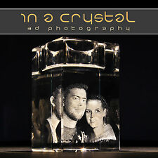 3D CRYSTAL PHOTO // UNIQUE // CANDLE HOLDER  // CUSTOMISED GIFTS !!1