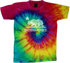 California flag tie dye t-shirt tie dye tee shirt California bear shirt