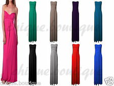 New Women's Ladies Plus Size Knot Front Lot Strapless Boob Tube Maxi Dress 8-26