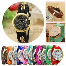 Fashion Women Men Geneva Silicone Analog Quartz Wristwatch Sports Wrist Watches