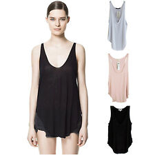 Fashion Women Modal V-Neck Vest Summer Loose Sleeveless Sexy Tank T-Shirt Tops
