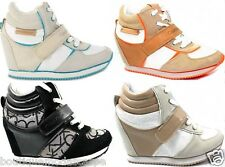 Sneakers Viridiana R8524 RE9264 Scarpe Donna Casual con Zeppa Tacco Interno