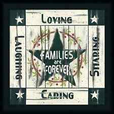 Families are Forever Linda Spivey Loving Laughing Sharing Framed Wall Art