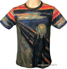 THE SCREAM Edvard Munch Fine Art Print T-Shirt Men's Short Sleeve M L XL New PN
