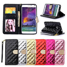 Bling Diamond Wallet Leather Flip Case Cover For Samsung Galaxy S5/S6/Note 3/4/5