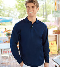 JERZEES Adult Mens SpotShield™ Long Sleeve Sport Shirt Polo Jersey 437ML 437-New