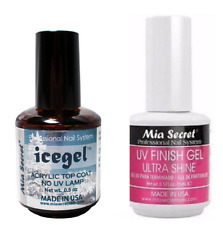 Mia Secret UV Finish Gel Ultra shine, Icegel -  NO UV LAMP NEEDED! ice gel USA