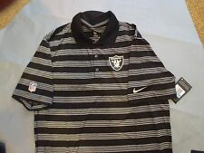 New Nike OAKLAND RAIDERS Dri Fit On Field Polo Shirt