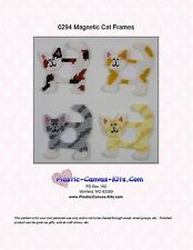 Cat  Magnetic Picture Frames- Plastic Canvas Pattern or Kit
