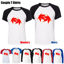 Beautiful Literary Style Red Maple Leaf Graphic Men's Women's Couple T Shirt tee