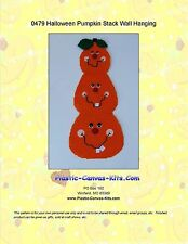 Halloween Pumpkin Stack Wall Hanging-Plastic Canvas Pattern or Kit