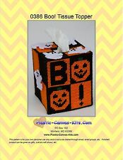 Halloween BOO Tissue Topper-Plastic Canvas Pattern or Kit