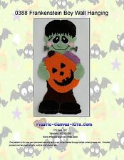 Frankenstein Boy Wall Hanging- Halloween-Plastic Canvas Pattern or Kit